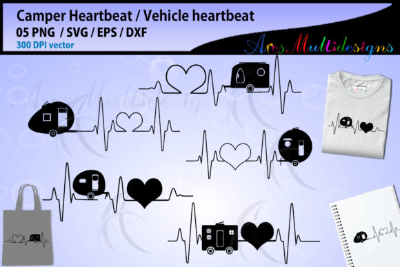 Print on Demand: Heartbeat Camper Gráfico Ilustraciones Por Arcs Multidesigns