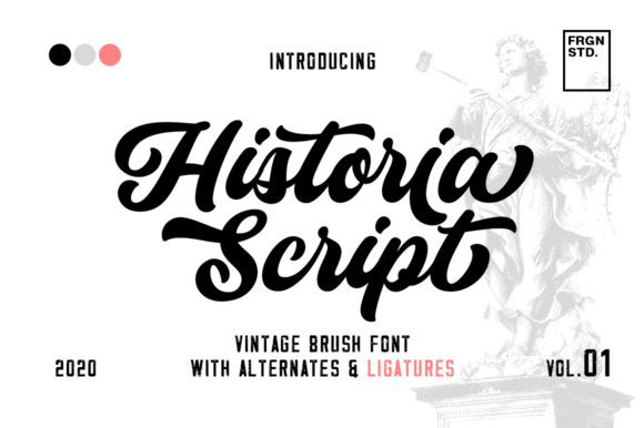 Print on Demand: Historia Script & Handwritten Font By fargunstudio