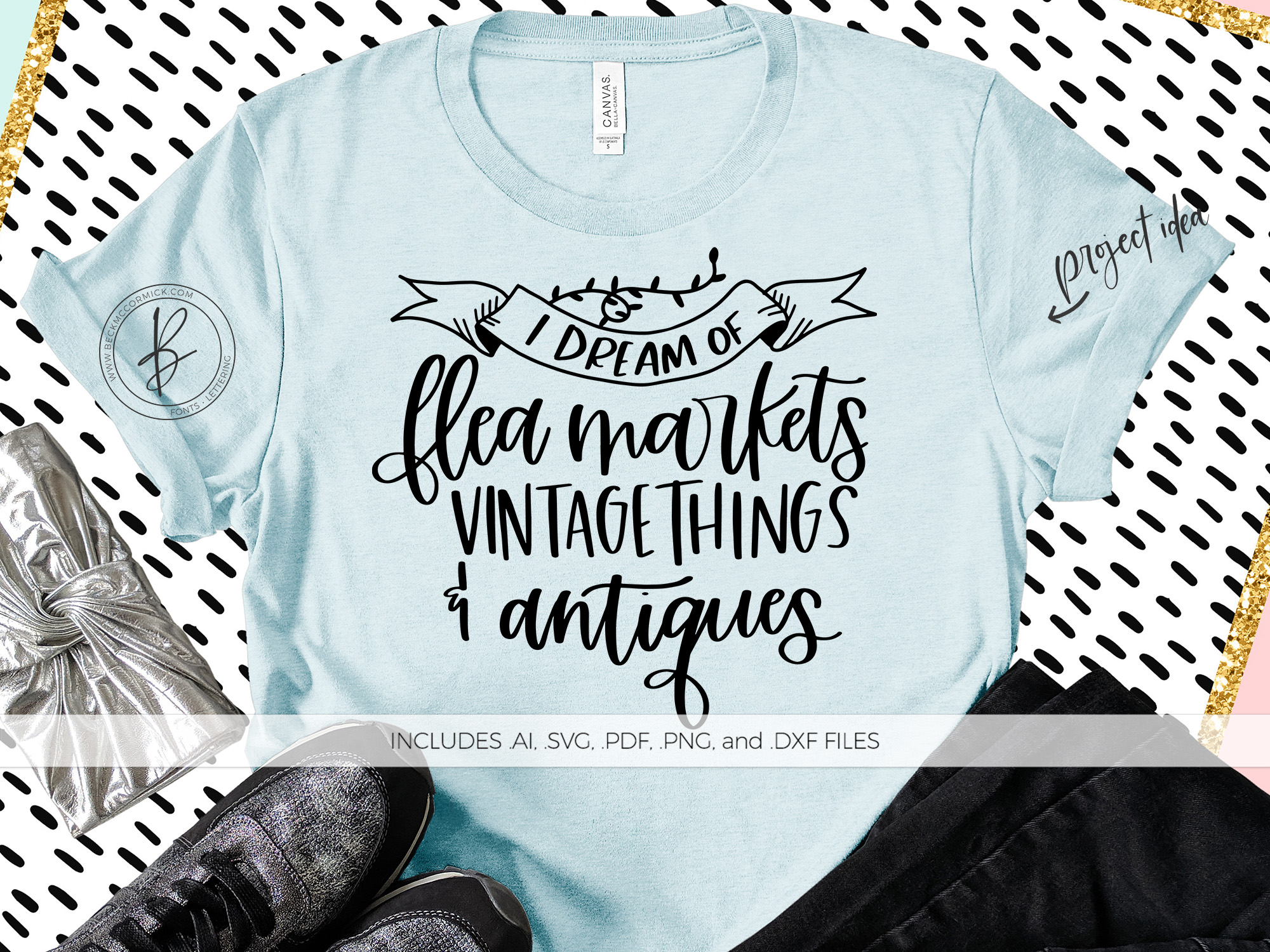 Download Free I Dream Of Flea Markets Graphic By Beckmccormick Creative Fabrica for Cricut Explore, Silhouette and other cutting machines.