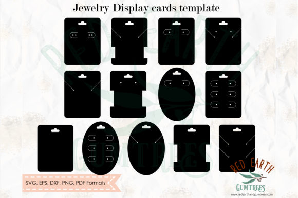 Download Free Jewelry Cards Template Graphic By Redearth And Gumtrees for Cricut Explore, Silhouette and other cutting machines.