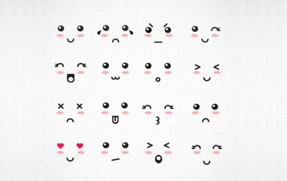 Print on Demand: Kawaii Faces Graphic Crafts By SVG DEN