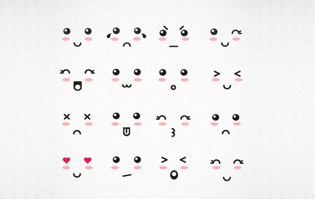 Download Free Kawaii Faces Graphic By Svg Den Creative Fabrica for Cricut Explore, Silhouette and other cutting machines.