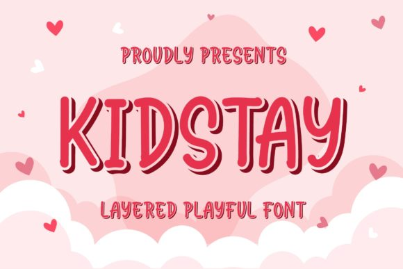 Print on Demand: Kidstay Display Font By Blankids Studio
