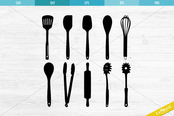 Kitchen Utensils Cut File Kitchen Tools Graphic Crafts By Lemonade Design Co.