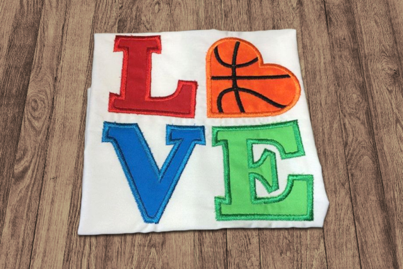 LOVE Basketball Applique Sports Embroidery Design By DesignedByGeeks