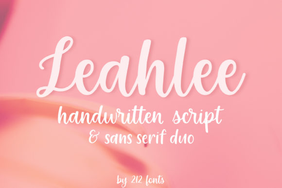 Print on Demand: Leahlee Duo Script & Handwritten Font By 212 Fonts