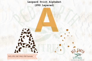 Leopard Print Letters Graphic Crafts By redearth and gumtrees