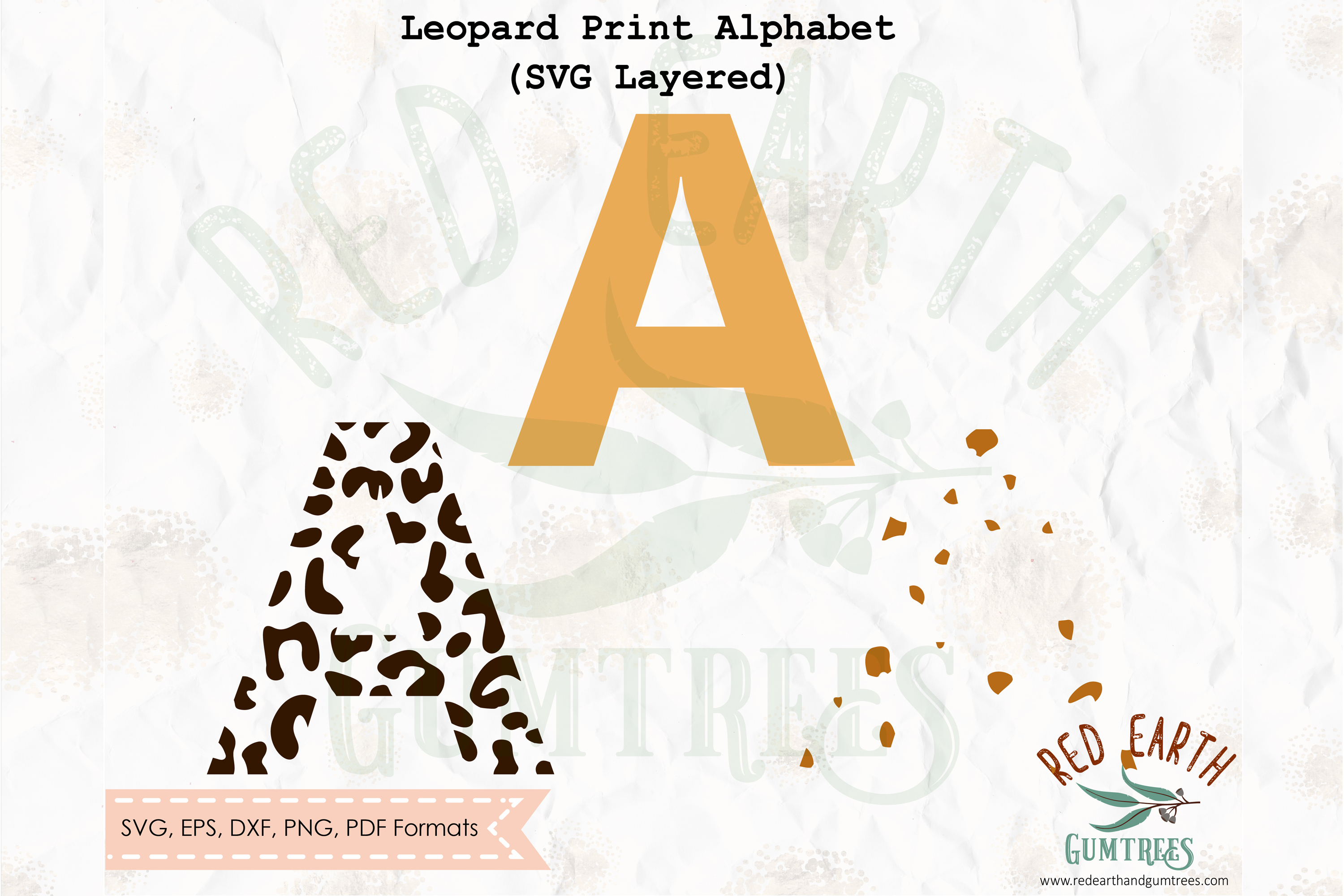 Download Free Leopard Print Letters Graphic By Redearth And Gumtrees for Cricut Explore, Silhouette and other cutting machines.
