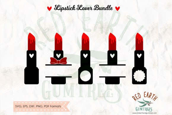 Lipstick Monogram Frames Bundle Graphic Crafts By redearth and gumtrees