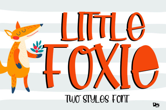 Print on Demand: Little Foxie Script & Handwritten Font By dmletter31