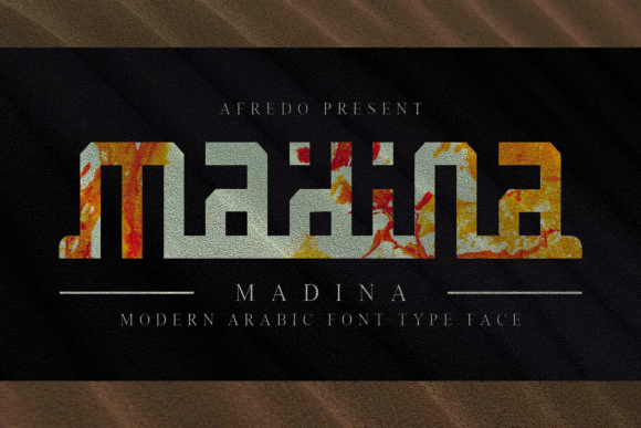 Print on Demand: Madina Display Font By afredo.fk
