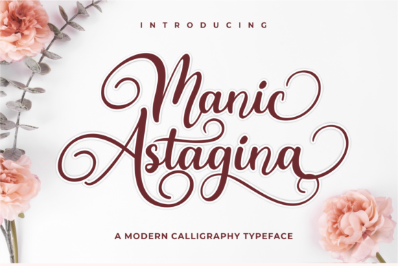 Print on Demand: Manic Astagina Script & Handwritten Font By Nun Creatype