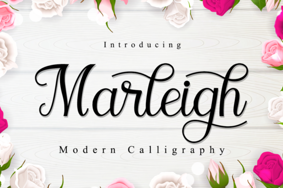 Print on Demand: Marleigh Script & Handwritten Font By Manjalistudio