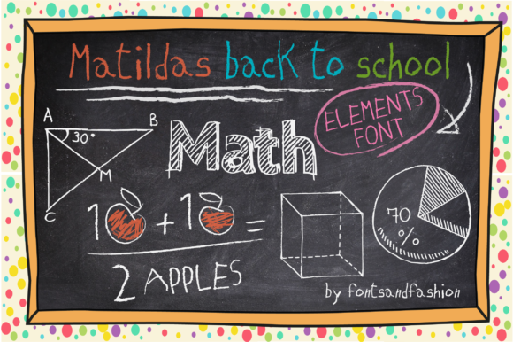 Print on Demand: Matildas Back to School Dingbats Font By Fontsandfashion - Image 3