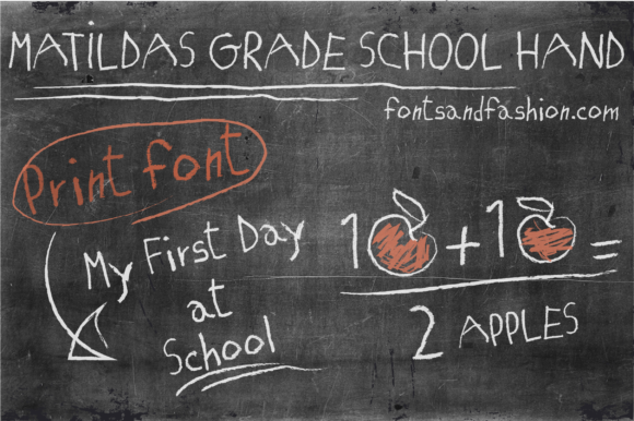 Print on Demand: Matilda's Grade School Hand Print Script & Handwritten Font By Fontsandfashion
