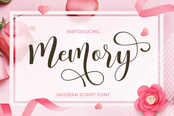Print on Demand: Memory Script & Handwritten Font By Posts Type