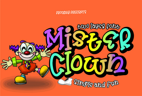 Print on Demand: Mister Clown Display Font By creativework69