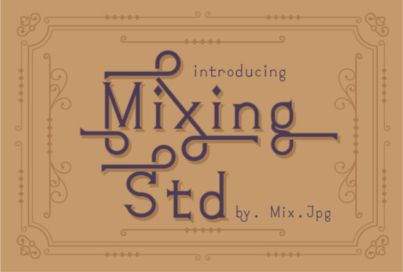 Print on Demand: Mixink Std Serif Font By MIX.Jpg