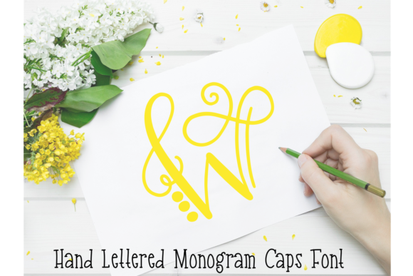 Print on Demand: Monogram Display Font By Justina Tracy