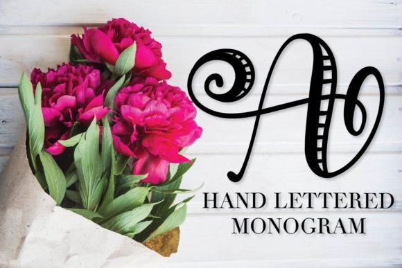 Print on Demand: Monogram Striped Display Font By Justina Tracy - Image 1
