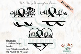 Mr & Mrs Wedding Monogram Frames Graphic Crafts By redearth and gumtrees