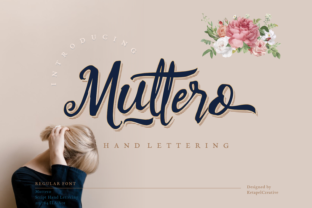 Print on Demand: Muttero Script & Handwritten Font By ketapelcreative
