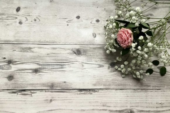Pink Rose White Flowers Flatlay Concept Graphic Holidays By Contes de fee