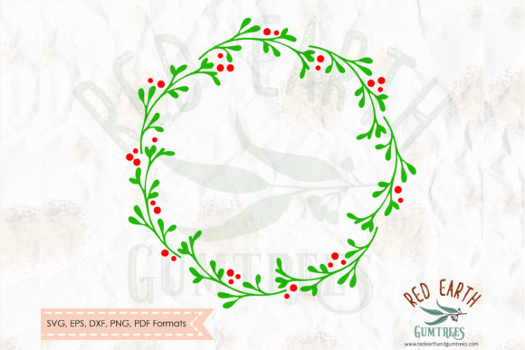 Plain Christmas Wreath Graphic Crafts By redearth and gumtrees