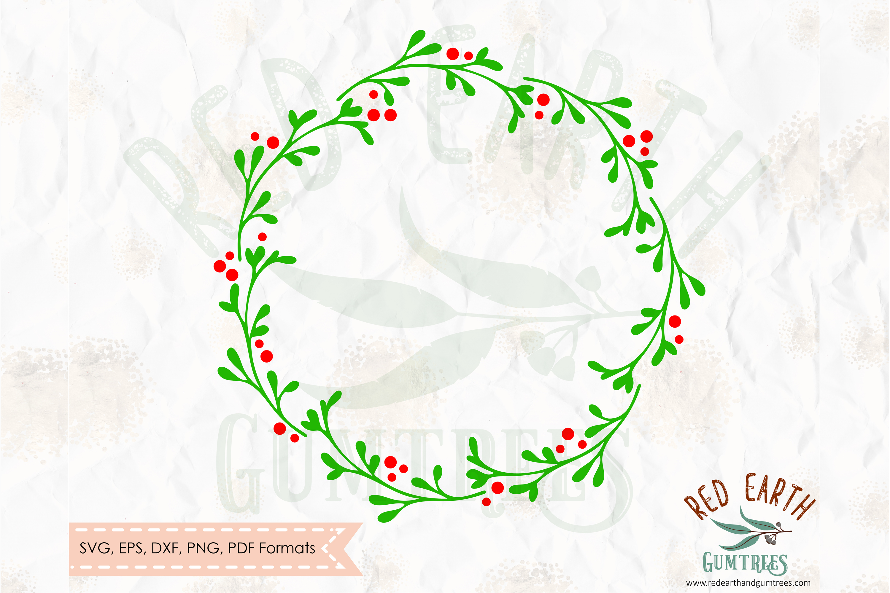 Download Free Plain Christmas Wreath Graphic By Redearth And Gumtrees for Cricut Explore, Silhouette and other cutting machines.