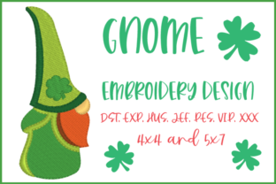 St. Patrick's Gnome St Patrick's Day Embroidery Design By Christie's Embroidery Cafe