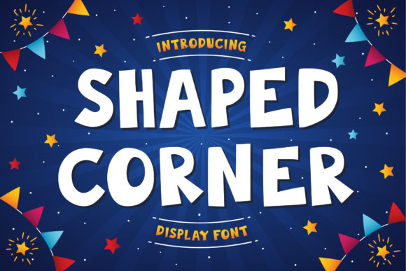 Print on Demand: Shaped Corner Display Font By Tosca Digital
