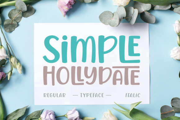 Print on Demand: Simple Hollydate Manuscrita Fuente Por Situjuh