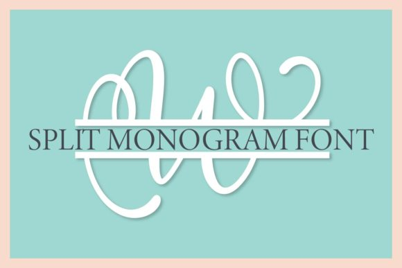Print on Demand: Split Monogram Display Font By Justina Tracy