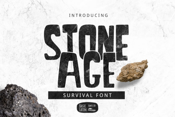 Print on Demand: Stone Age Display Font By YandiDesigns