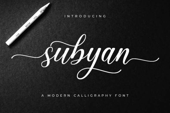 Print on Demand: Subyan Script & Handwritten Font By Suby Store