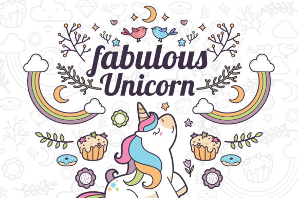 Print on Demand: Unicorn Clipart Set 1 Graphic Illustrations By accaliadigital