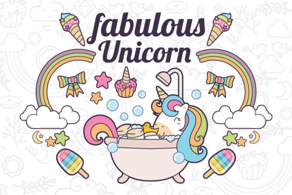Download Free Unicorn Clipart Set 2 Graphic By Accaliadigital Creative Fabrica for Cricut Explore, Silhouette and other cutting machines.