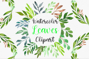 Print on Demand: Watercolor Botanical Leaves Clipart Graphic Illustrations By PinkPearly