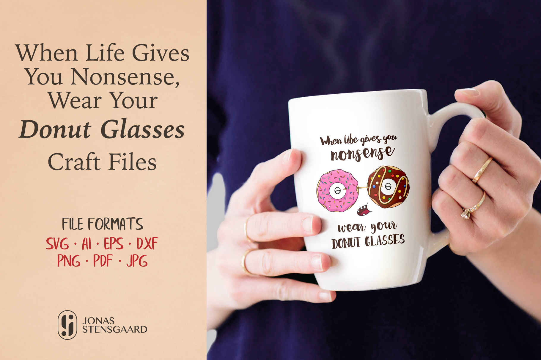 Download Free Wear Your Donut Glasses Graphic By Jonas Stensgaard Creative for Cricut Explore, Silhouette and other cutting machines.