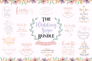 The Wedding Sign Bundle Graphic Crafts By Graphipedia
