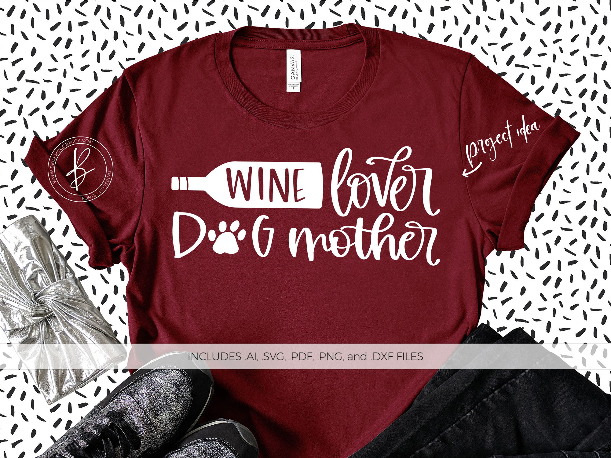 Download Free Wine Lover Dog Mother Graphic By Beckmccormick Creative Fabrica for Cricut Explore, Silhouette and other cutting machines.
