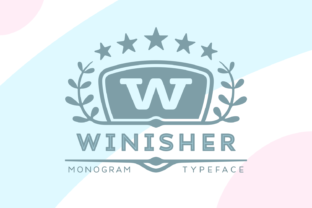 Print on Demand: Winisher Display Font By Situjuh
