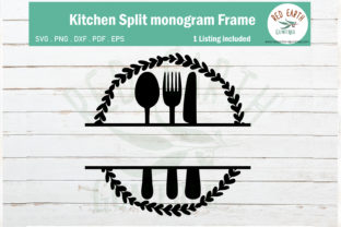 Wreath Kitchen Split Monogram Frame Graphic Crafts By redearth and gumtrees
