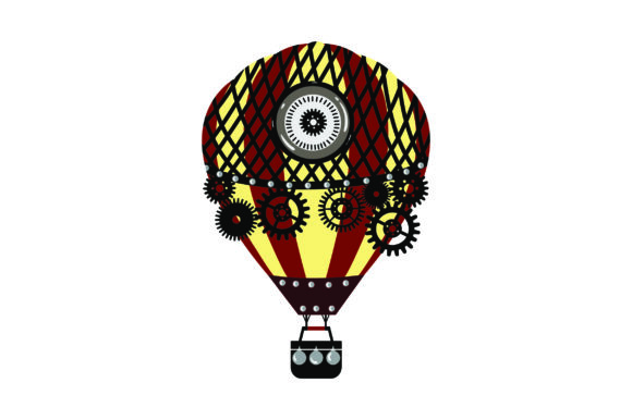 Steampunk Hot Air Balloon Steampunk Plotterdatei von Creative Fabrica Crafts