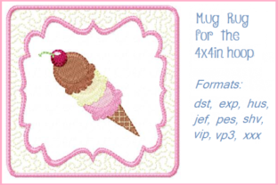 3 Scoops Dessert & Sweets Embroidery Design By Christie's Embroidery Cafe
