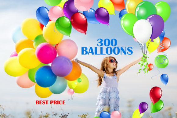 300 Balloons Overlays Graphic Layer Styles By impresstore