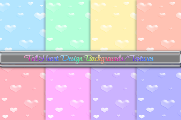 Print on Demand: 3D Heart Glossy Backgrounds Graphic Backgrounds By AM Digital Designs