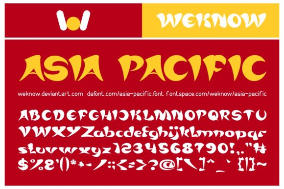 Print on Demand: Asia Pacific Display Font By weknow