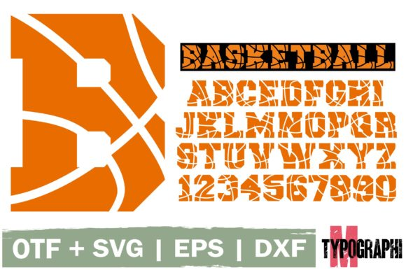Download Free Basketball Font By Typography Morozyuk Creative Fabrica for Cricut Explore, Silhouette and other cutting machines.