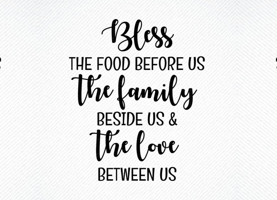 Download Free Bless The Food Before Us Graphic By Svg Den Creative Fabrica for Cricut Explore, Silhouette and other cutting machines.
